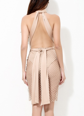 ALIA NUDE DRESS - Shop Carley Glam - 4
