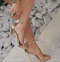 """LANE"" GOLD SANDALS - Shop Carley Glam - 2"