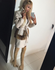 SHAY TAUPE SUEDE OVER THE KNEE BOOTS