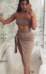 MALLORY BEIGE TWO PIECE SET