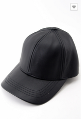 KYLIE JENNER LEATHER HAT - Shop Carley Glam