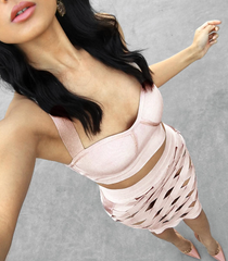 CLARE TWO-PIECE BANDAGE DRESS