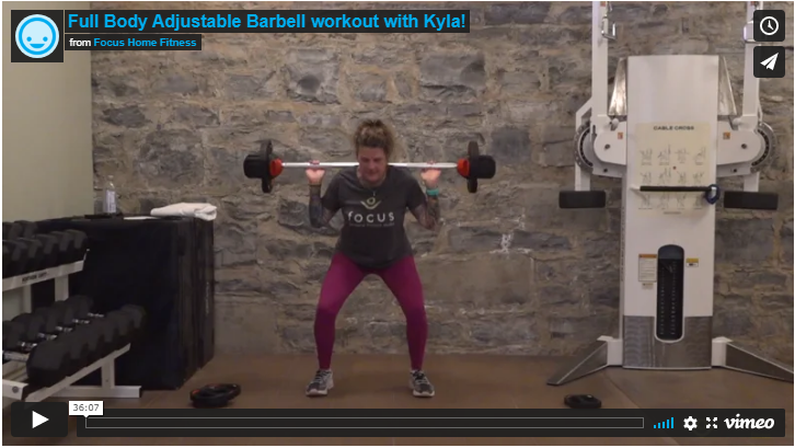 Full Body Adjustable Barbell workout with Kyla!
