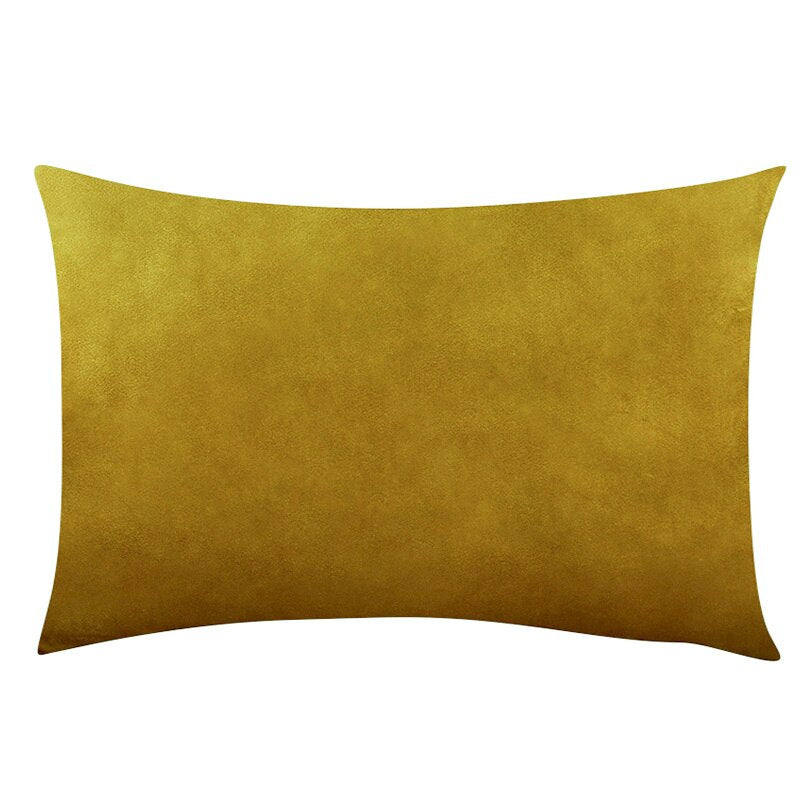 Coussin Rectangulaire Jaune Moutarde