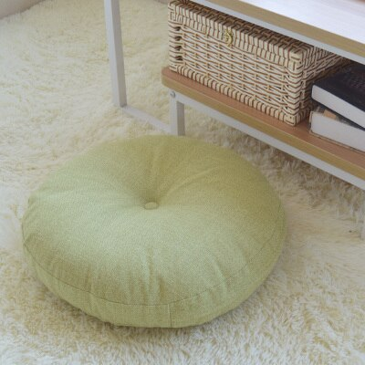 Coussin Jaune Rond