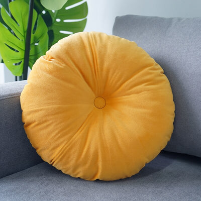 Coussin Rond Jaune