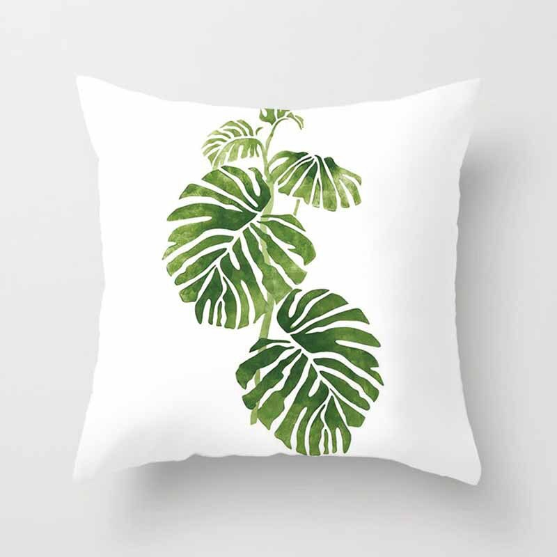 Coussin Jungle Blanc