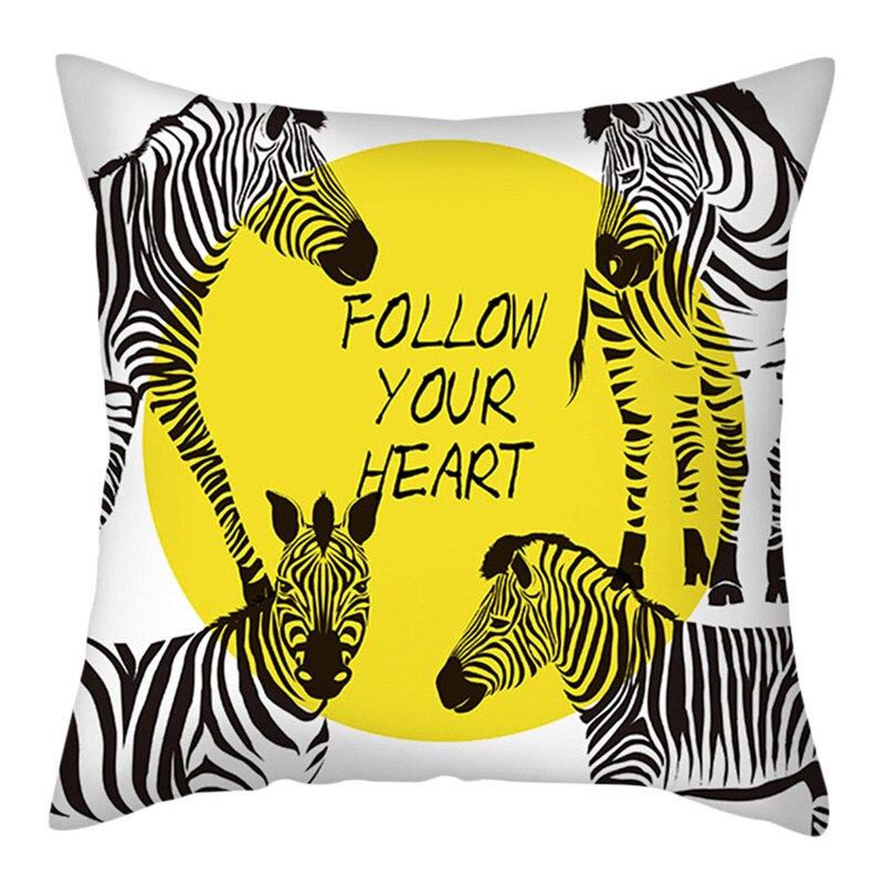 Coussin Zebre Follow Your Heart