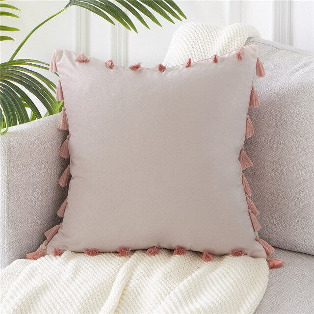 Coussin Rose Velours