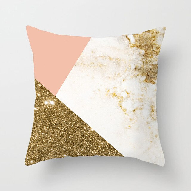 Coussin Rose et Or