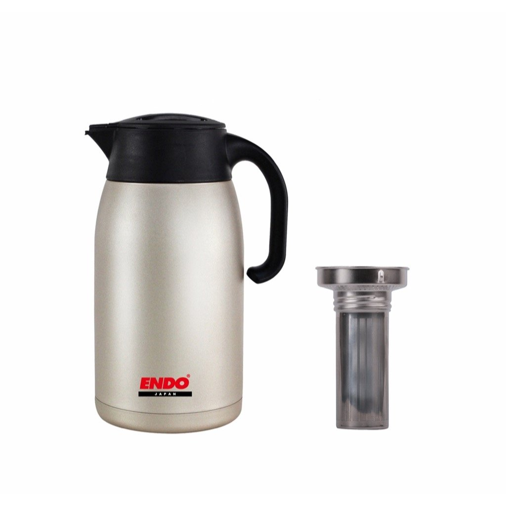 1.5L Double Stainless Steel Handy Jug + Tea Strainer