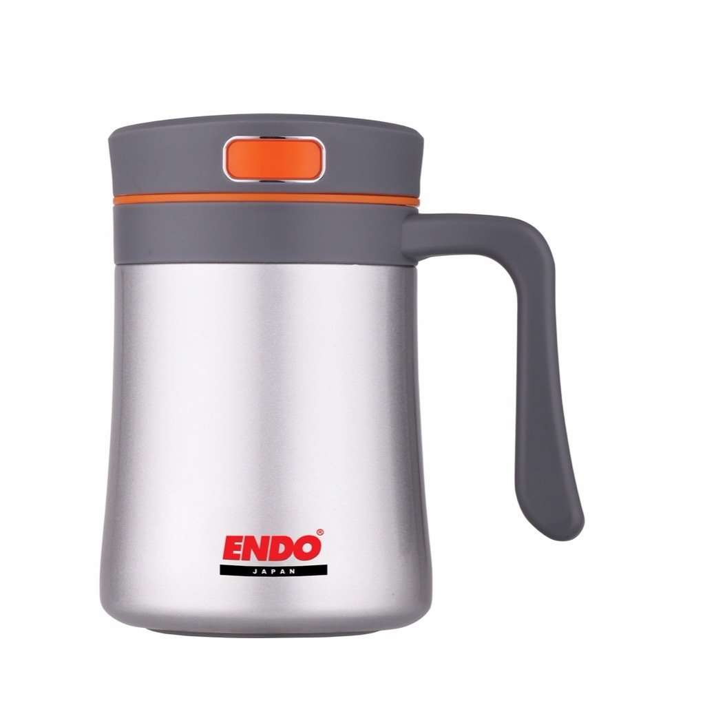 ENDO+ 400ml Anti-bac Desk Mug (Silver)