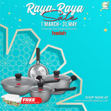 RAYA-RAYA SALE COMBO 1 : 7pcs Endo Induction Cookware Set