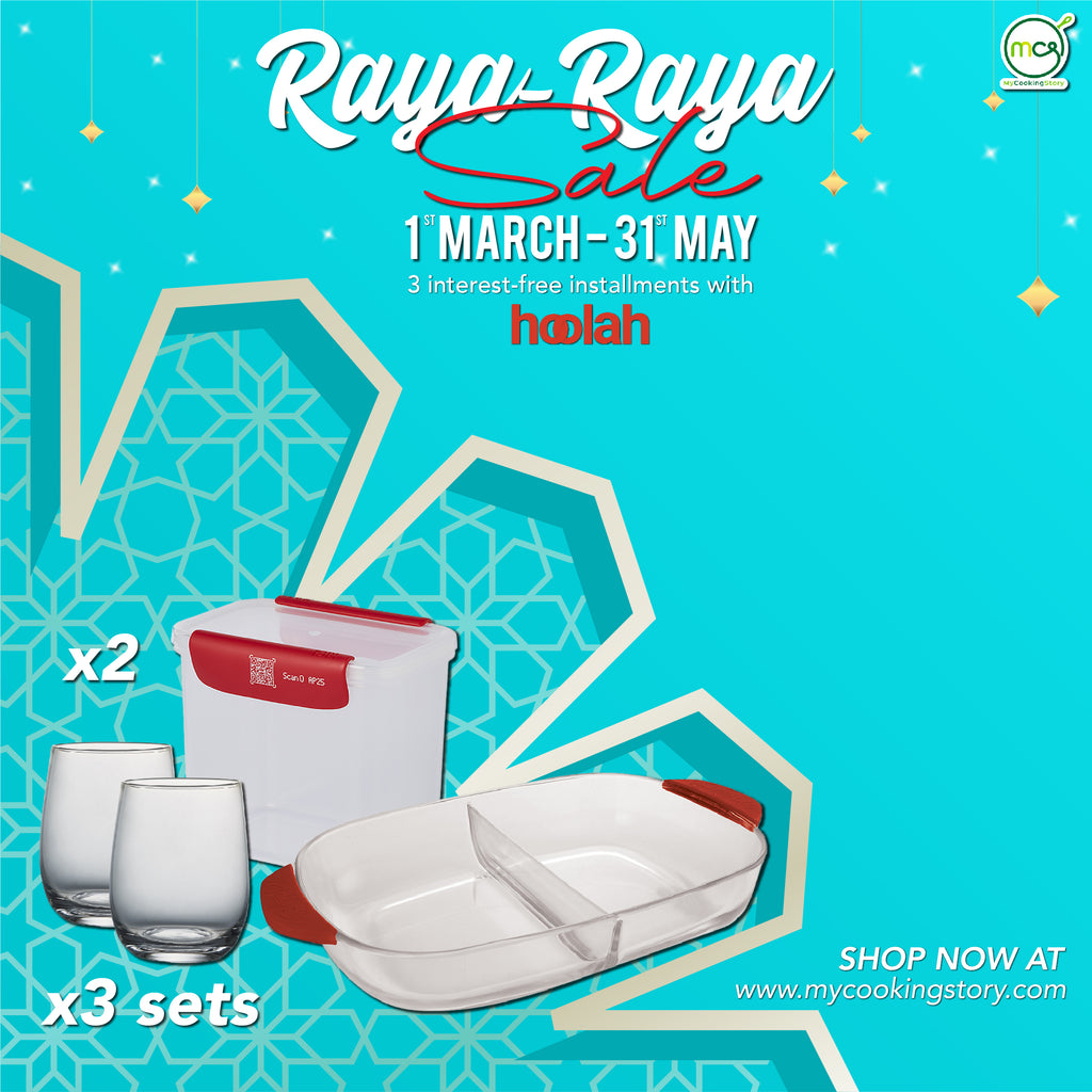RAYA-RAYA SALE COMBO 4 : 6pcs Serve Combo