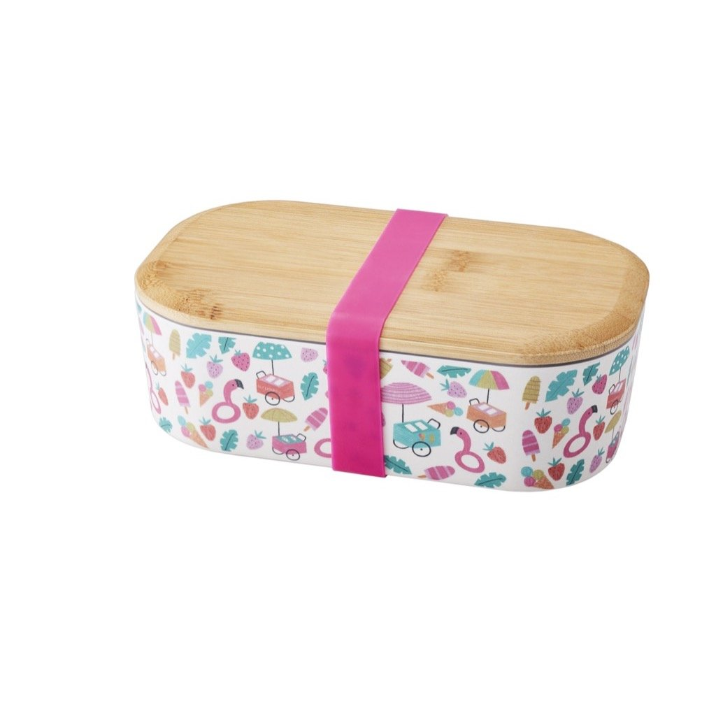GO Green Rectangular Lunch box with decal