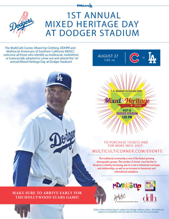 1ST ANNUAL MIXED HERITAGE DAY AT DODGER STADIUM