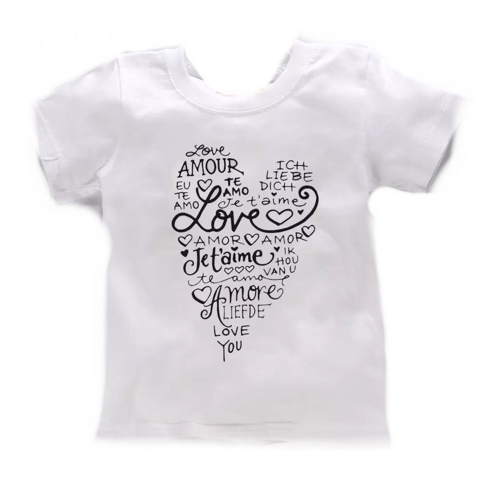 Short Sleeve Tee - Love in different languages