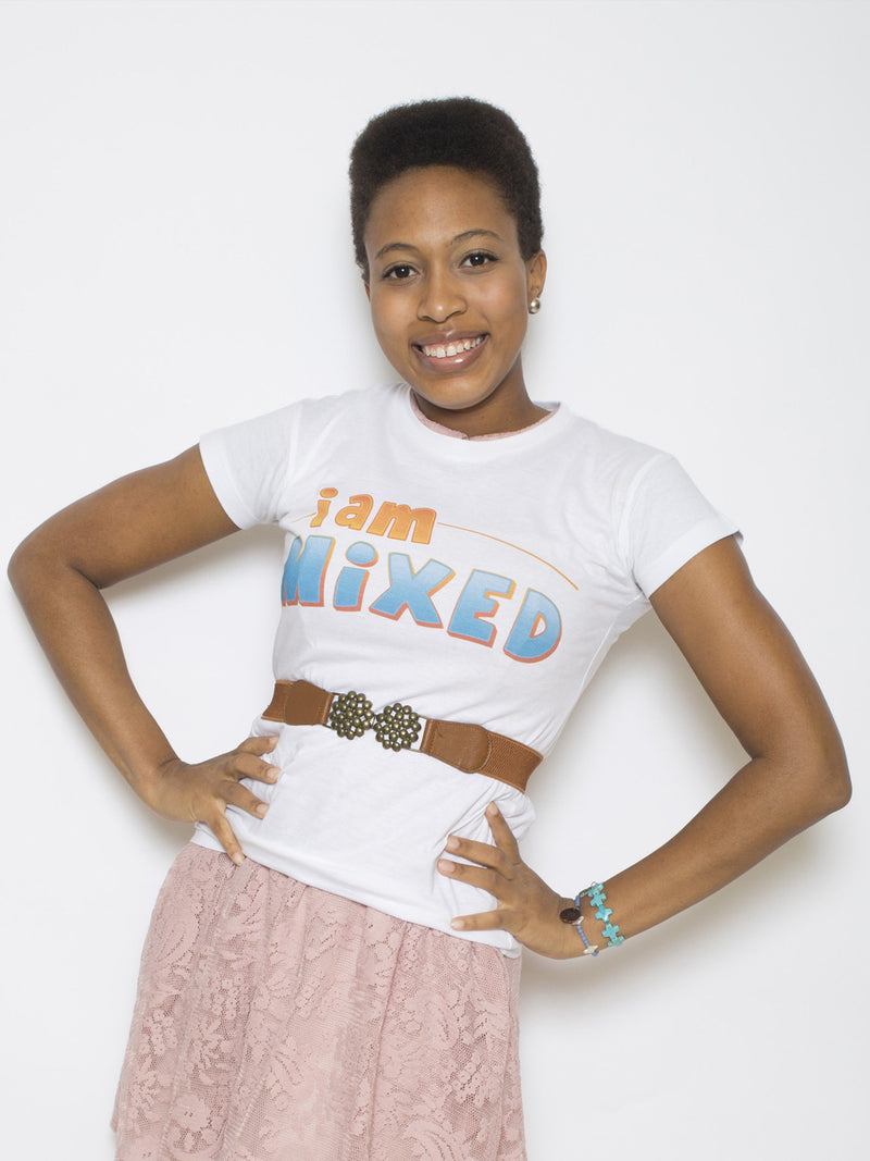I Am Mixed Logo Ladies Baby T-Shirt