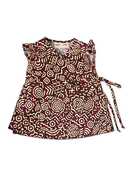 Infant Kimono Wrap Dress - Brown Sabi