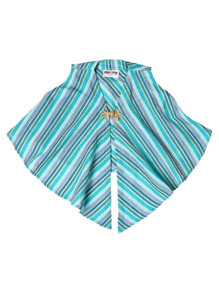 Vest Top - Teal/Silver Stripe Print