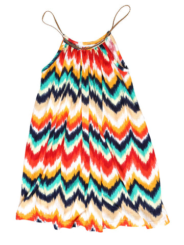 Goddess Dress - Zig Zag Print