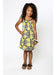 Goddess Dress - Green/Black Tribal Print