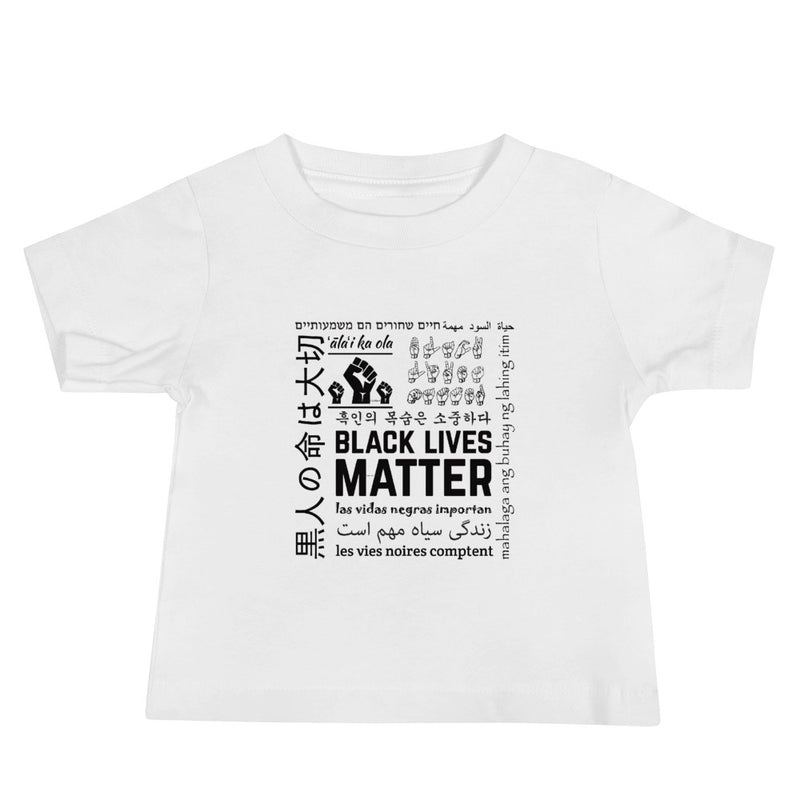 Infant Black Lives Matter Multi-Lingual T-Shirt - White