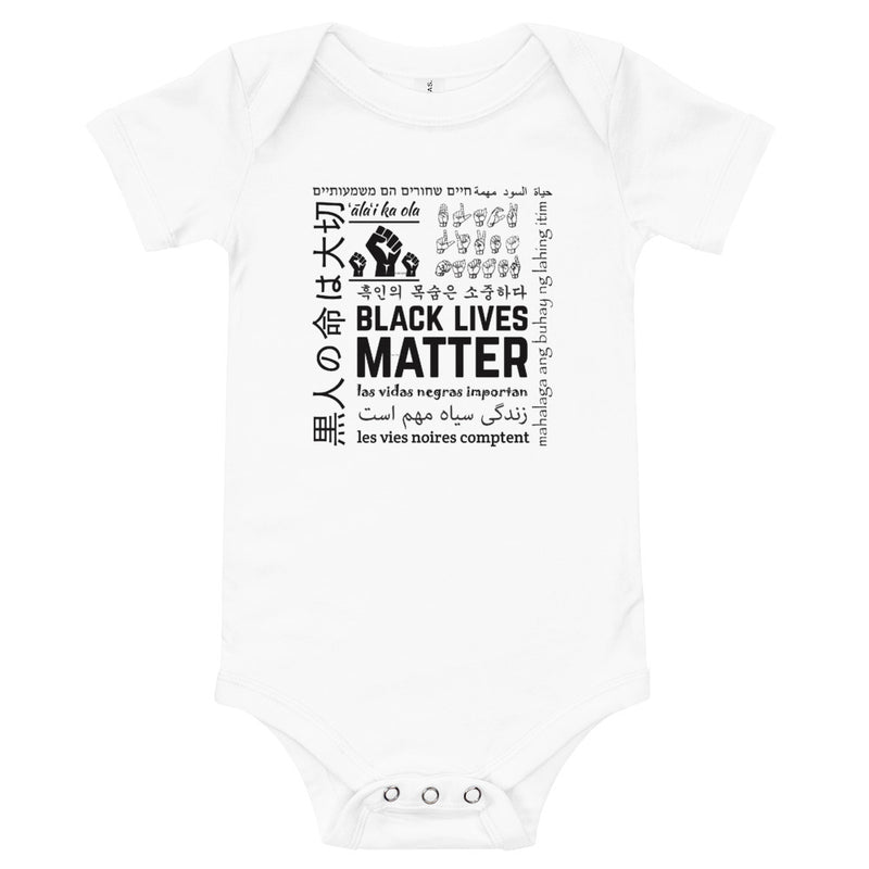 Infant Black Lives Matter Multi-Lingual Onesie - White