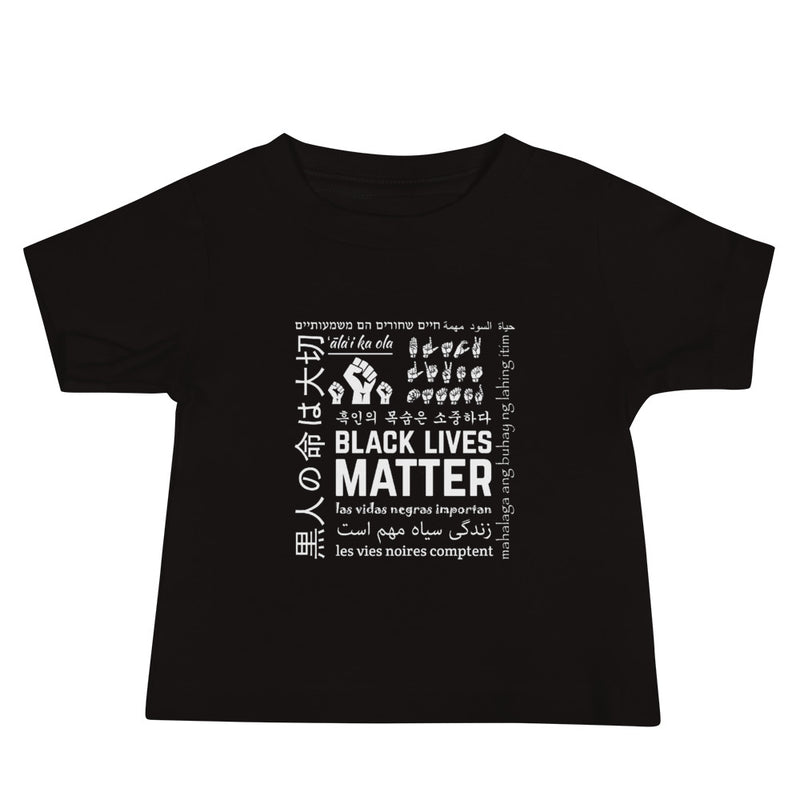 Infant Black Lives Matter Multi-Lingual T-Shirt - Black
