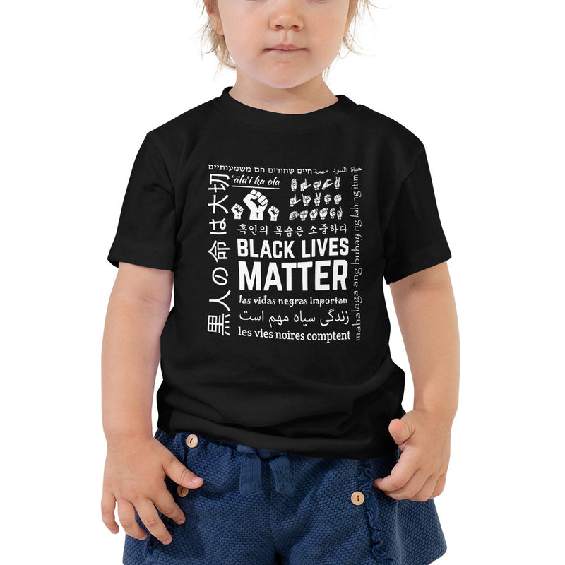 Kids Black Lives Matter Multi-Lingual T-Shirt - Black