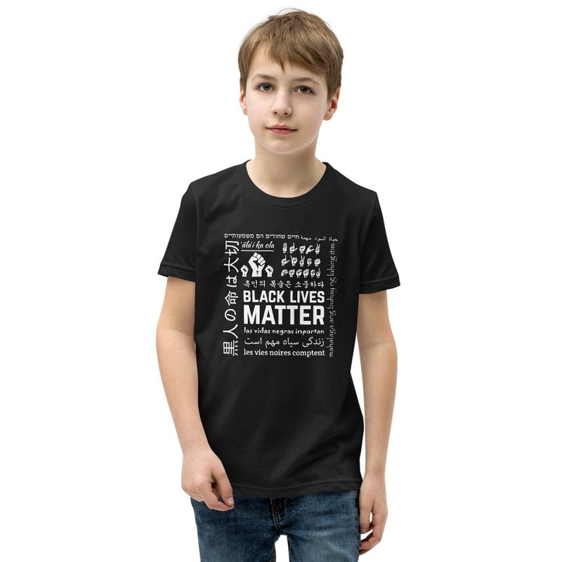 Youth Black Lives Matter Multi-Lingual T-Shirt - Black
