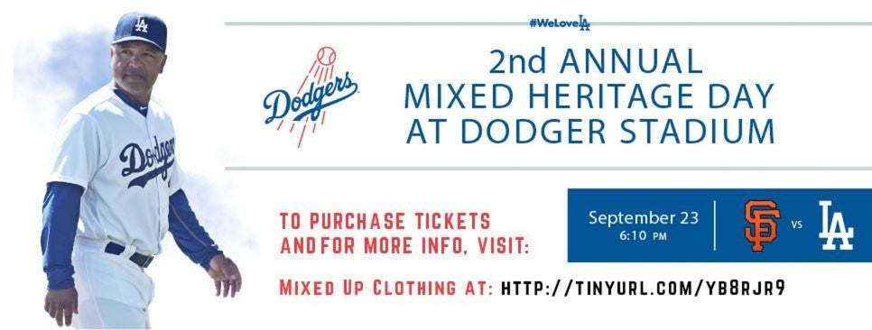 Mixed Heritage day, multiculture, mixed, mixedup clothing, dodgers, multiculti