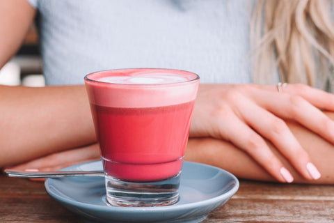 Turmeric and beetroot latte