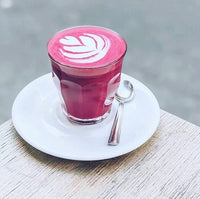 golden latte with turmeric and beetroot. A Nespresso compatible coffee pod that's compostable. Keto and Vegan friendly.