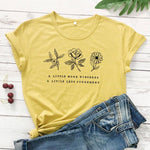 eco-heros Moutarde / M / CHINA T Shrit Fleur