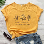 eco-heros Jaune / M / CHINA T Shrit Fleur