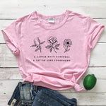 eco-heros Rose / M / CHINA T Shrit Fleur