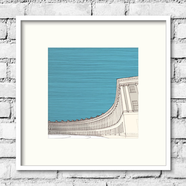 Bath-royal-crescent-blue-print-illustration