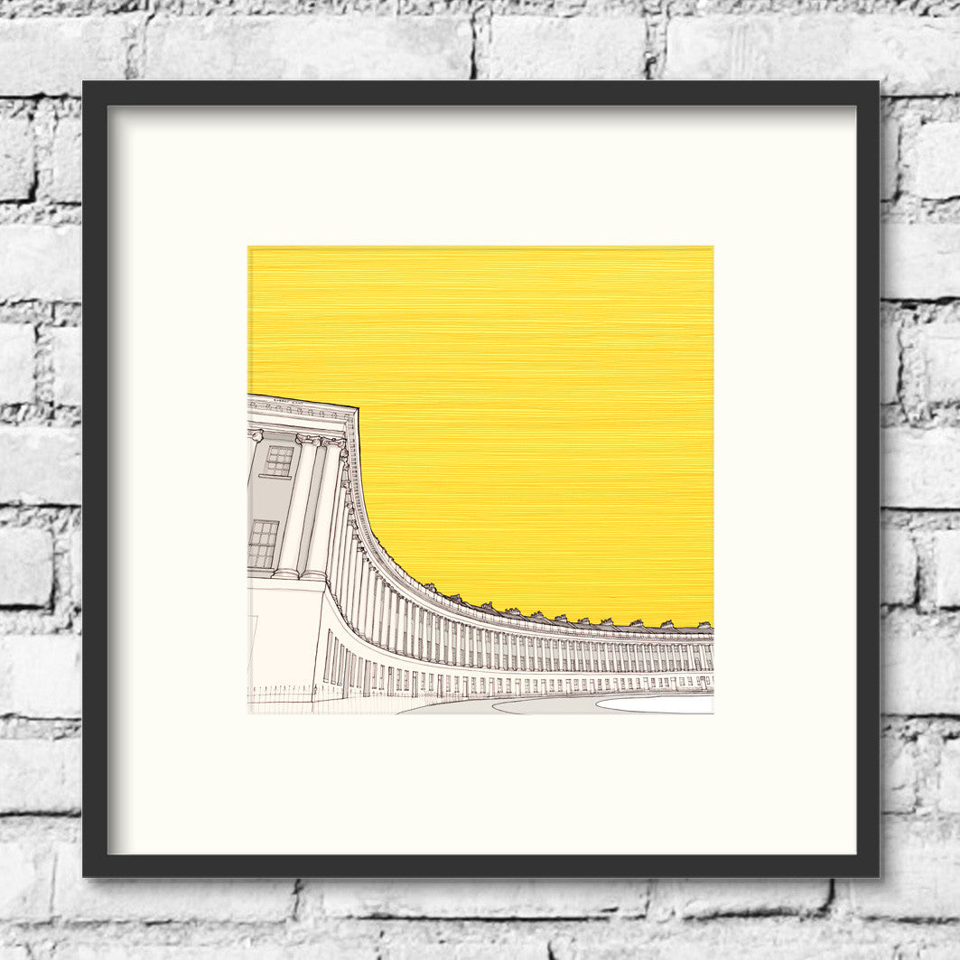 Bath-royal-crescent-gold-print-illustration