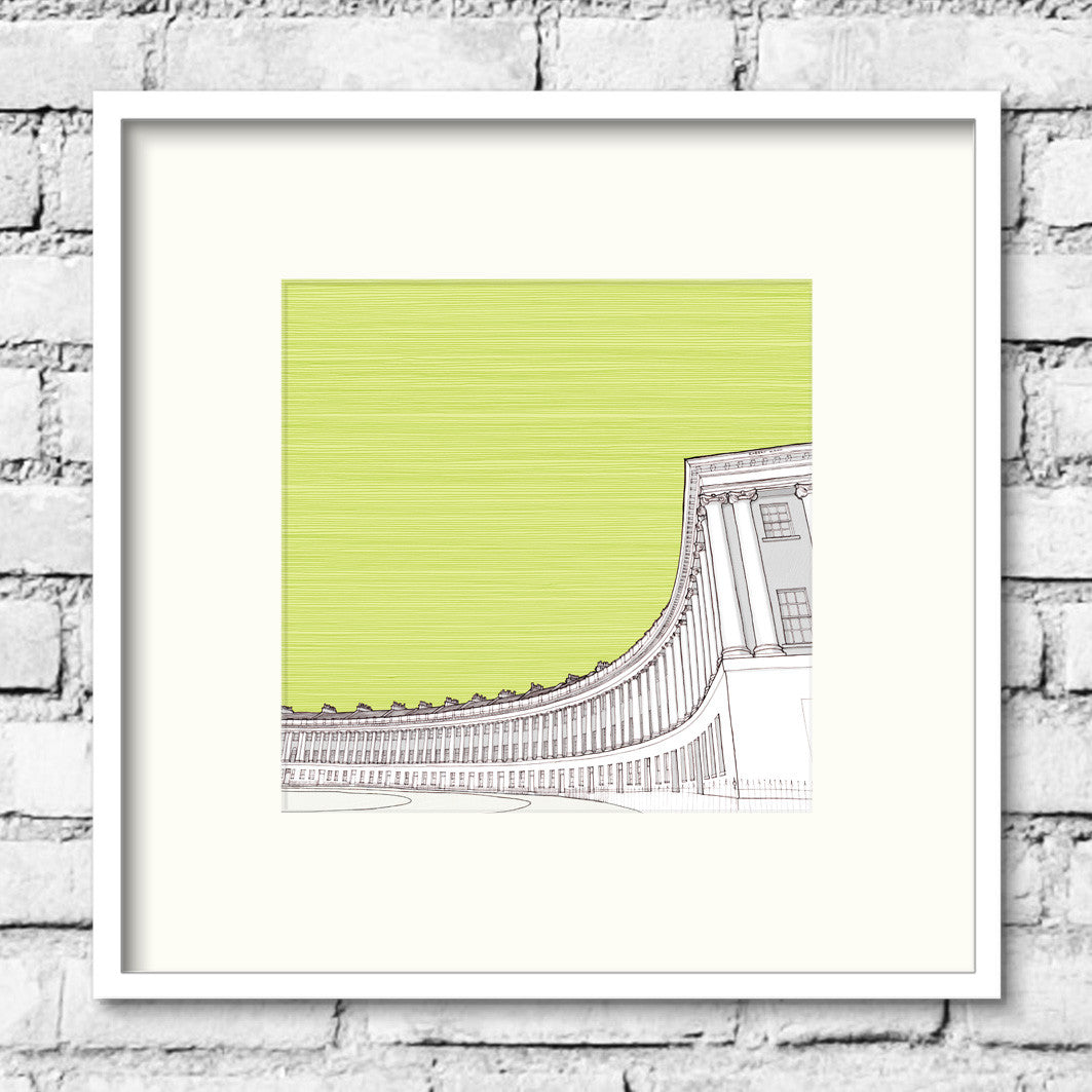 Bath-royal-crescent-green-print-illustration