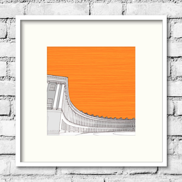 Bath-royal-crescent-orange-print-illustration