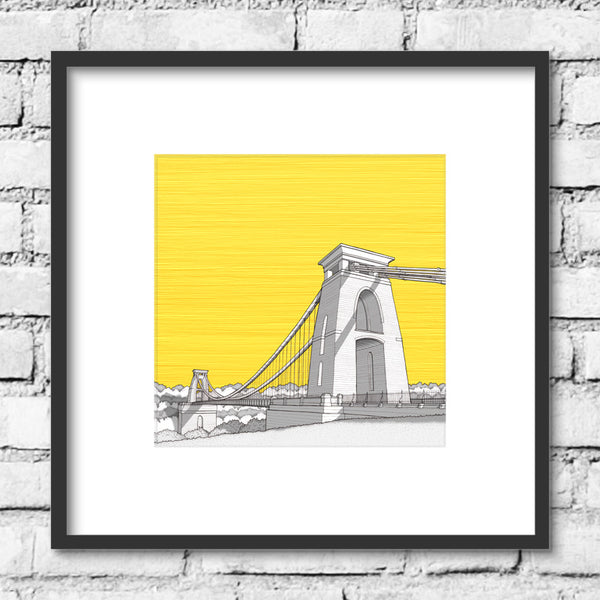 Bristol Clifton Suspension Bridge - Yellow Skies