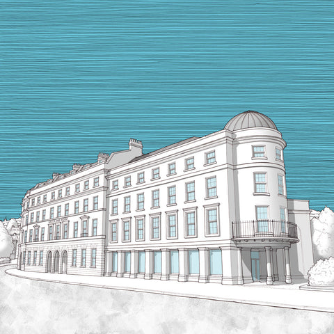Bath Artwork - Green Park House Student Accommodation - Blue Sky