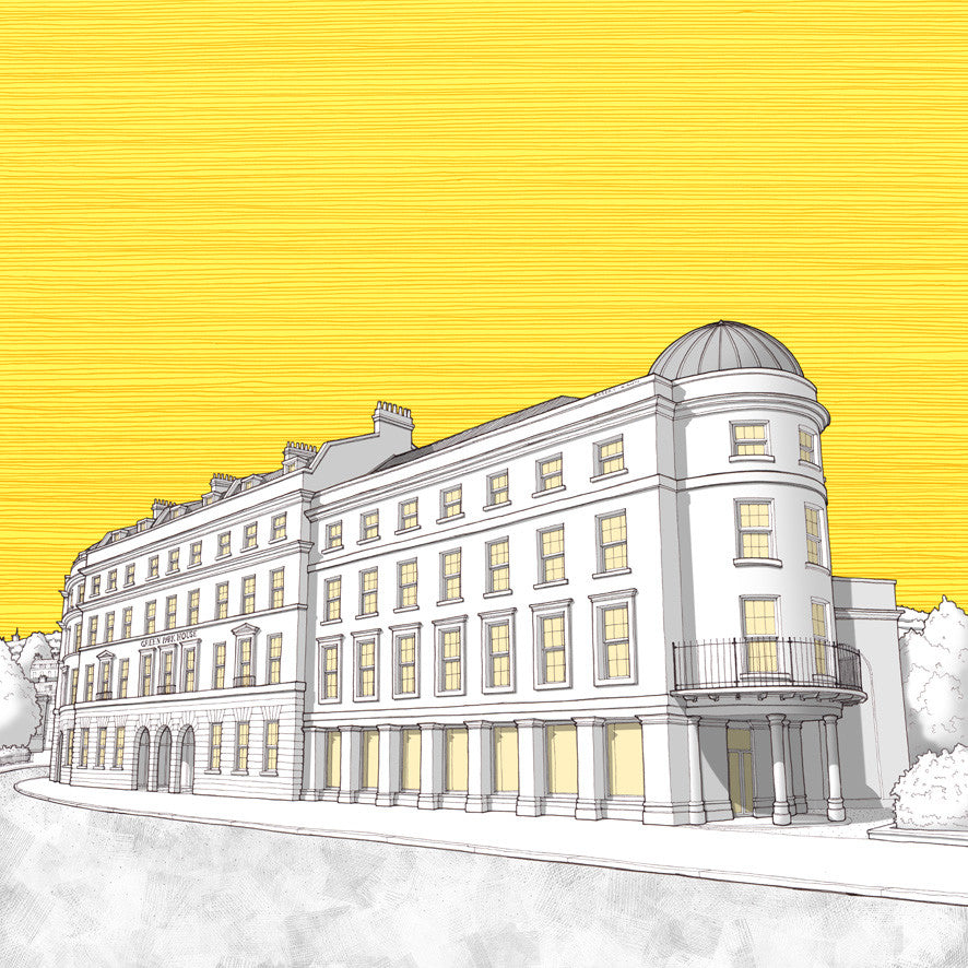 Bath Artwork - Green Park House Student Accommodation - Gold Sky