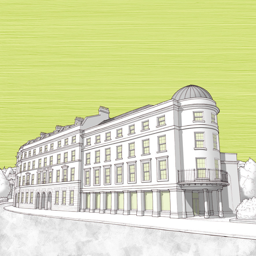 Bath Artwork - Green Park House Student Accommodation - Green Sky