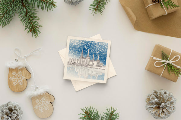 Architectural holiday card - Battersea Power Station, London