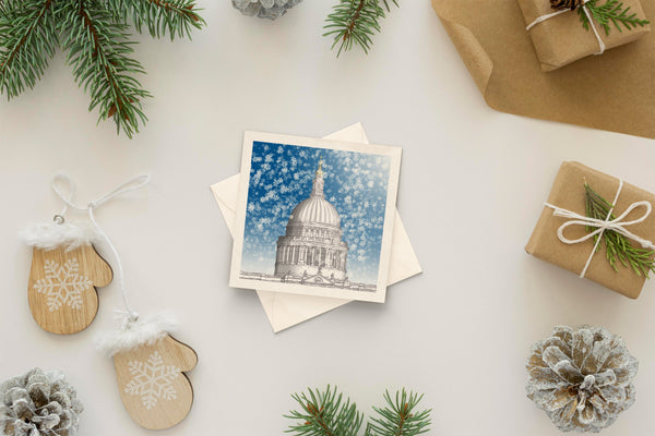 Architectural holiday card - St. Paul's Cathedral, London
