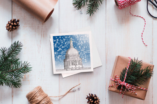 Christmas greeting card - St. Paul's Cathedral, London
