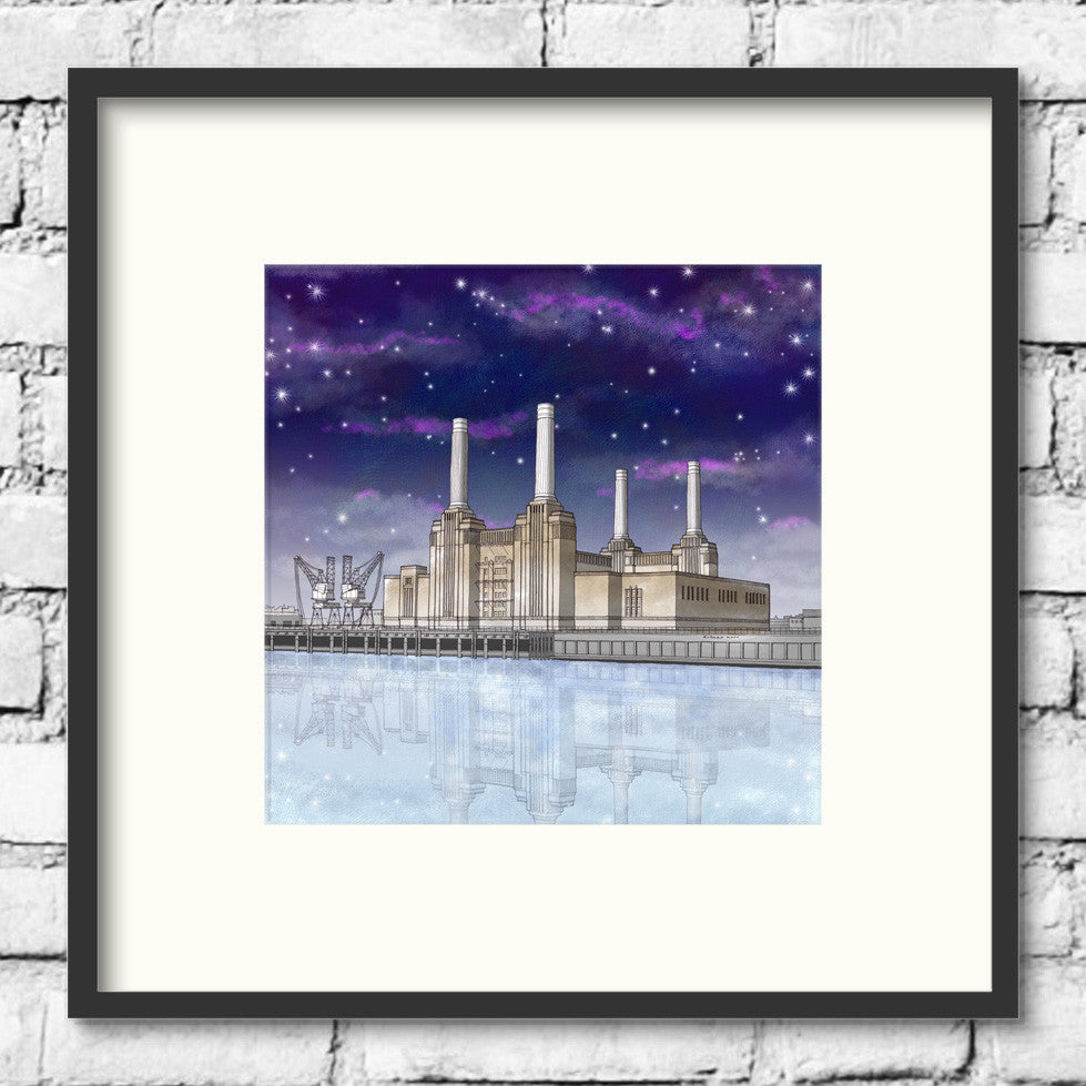 London-Art-Battersea-Power-Station-Night