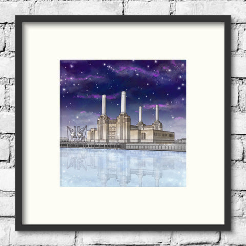 London Art - Battersea Power Station - By Night